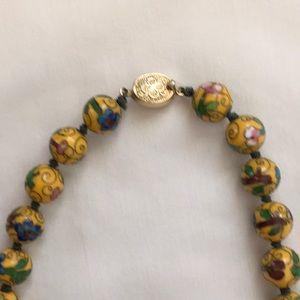 Jewelry - Yellow Cloissone Necklace